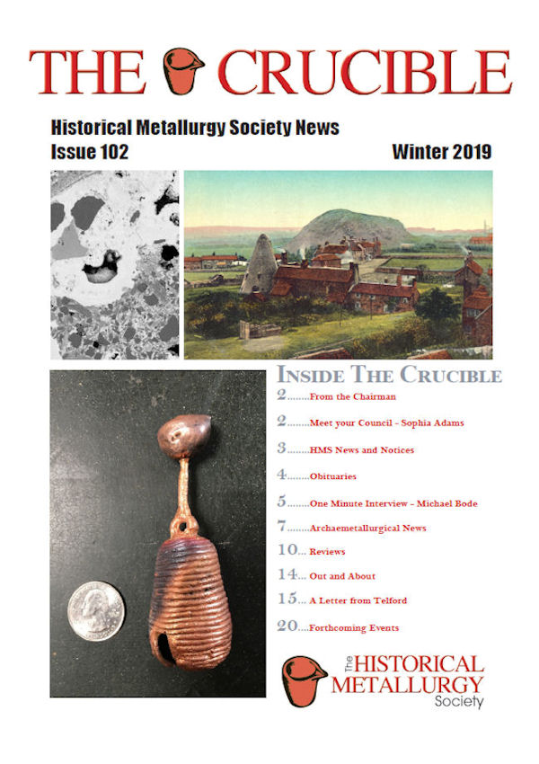 Hms Newsletter The Historical Metallurgy Society